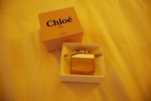 こちらはChloeの香水。甘すぎなくていい。