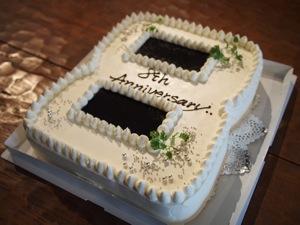コンセントの8周年記念ケーキ