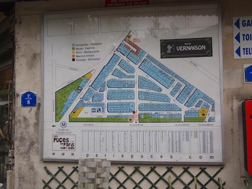 クリニャンクール一角のマップ