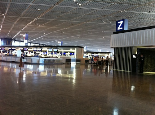 NRT check-in area