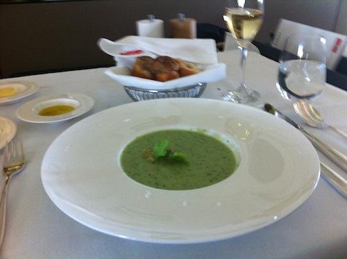 SWISS first class meal