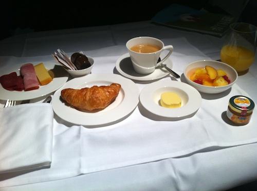 SWISS first class breakfast