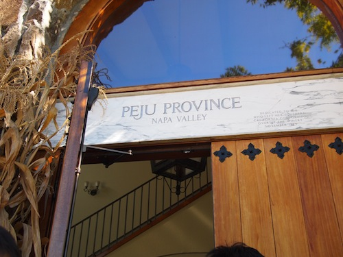 peju province winery entrance
