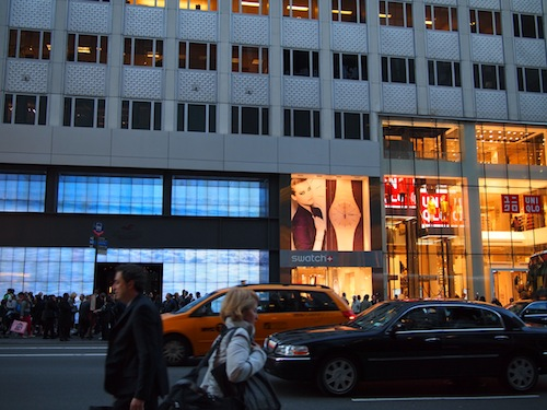 Holister and Uniqlo on 5th ave.