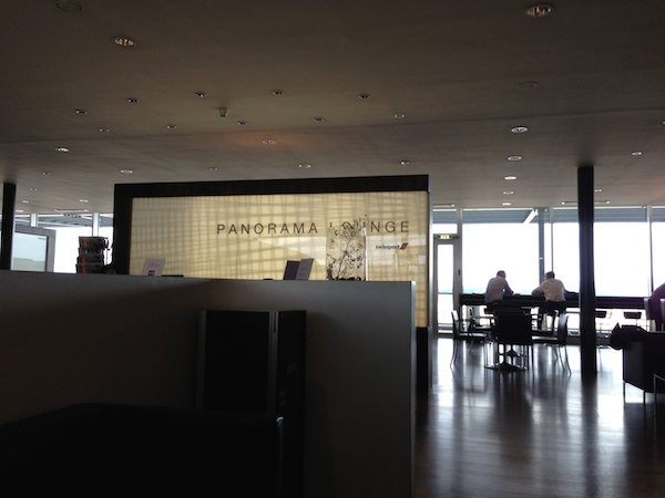panorama lounge at Zurich airport