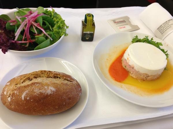 スイス航空ビジネスクラスの食事