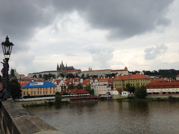 Prague castle from the Karluv most