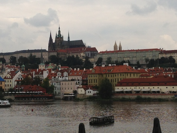 Prague castle from the Charles Bridge