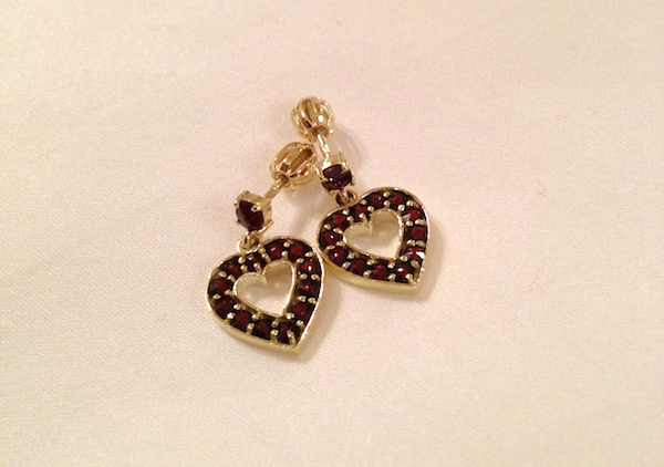 garnet and gold earrings