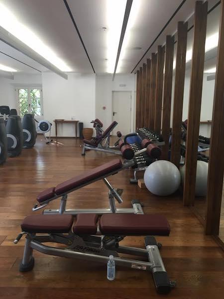 gym at aman sveti stefan