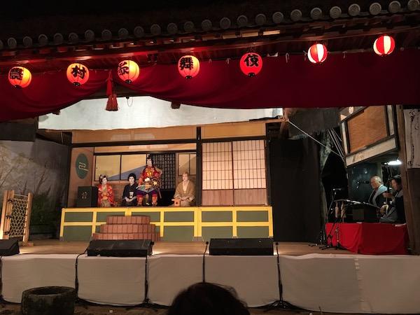 島の人達が演じる農村歌舞伎がすばらしかった。途中ハプニングがあったのも、農村歌舞伎ならでは!?