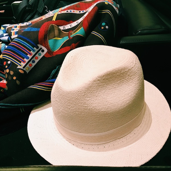 Loro Piana hat & HERMES scarf