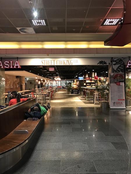 food court at Frankfurt airport