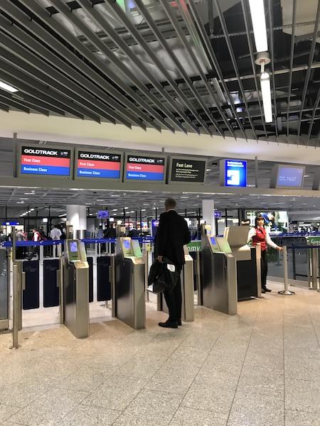 Frankfurt airport gold track