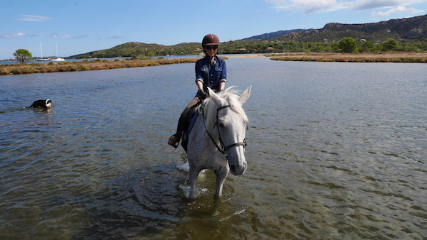 horseback riding in the lagoon