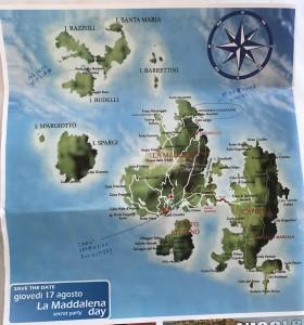 マッダレーナ諸島の地図。クリックで拡大します。