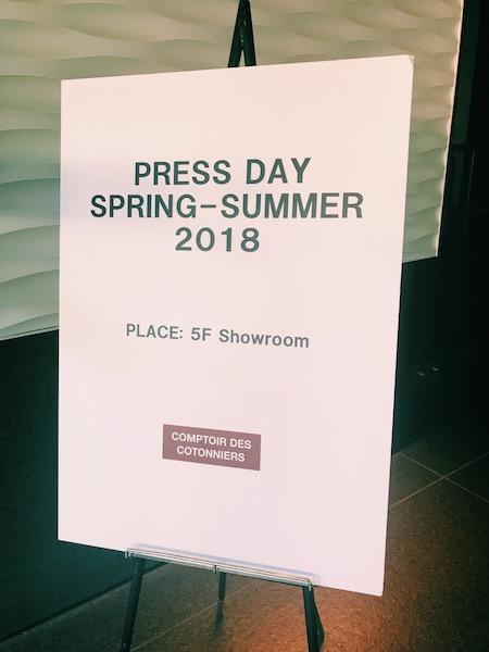 COMPTOIR DES COTONNIERS 2018SS Press Day