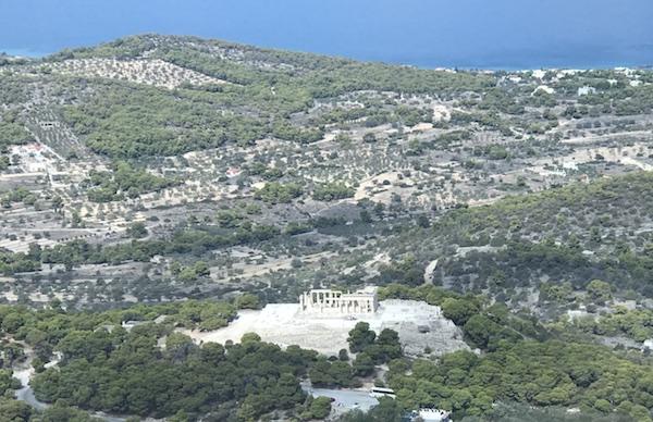 fly over an acropolis