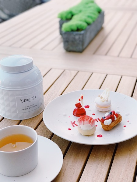 KUSMI TEA「Le thé blanc Alain Ducasse」Afternoon tea at Hyatt Centric Ginza